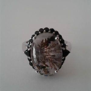 Genuine, Rare Rutilated Quartz Ring, Size 8,